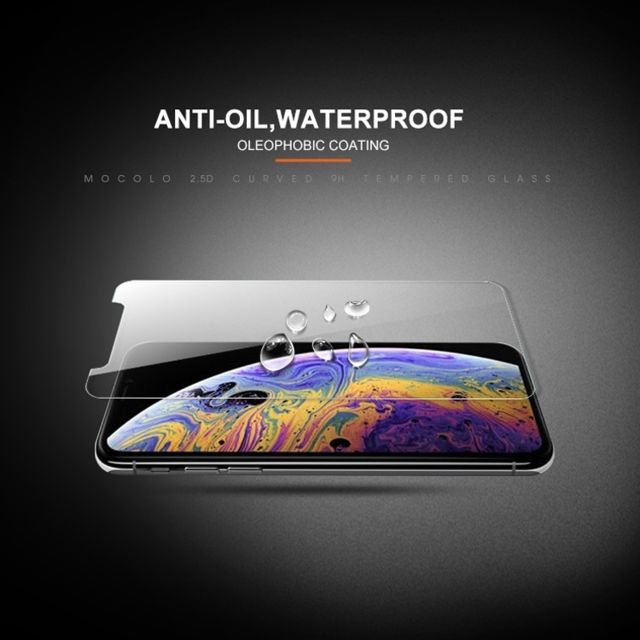 Protection écran smartphone Film de verre trempé mocolo 0.33mm 9H 2.5D pour iPhone XS / X (transparent)
