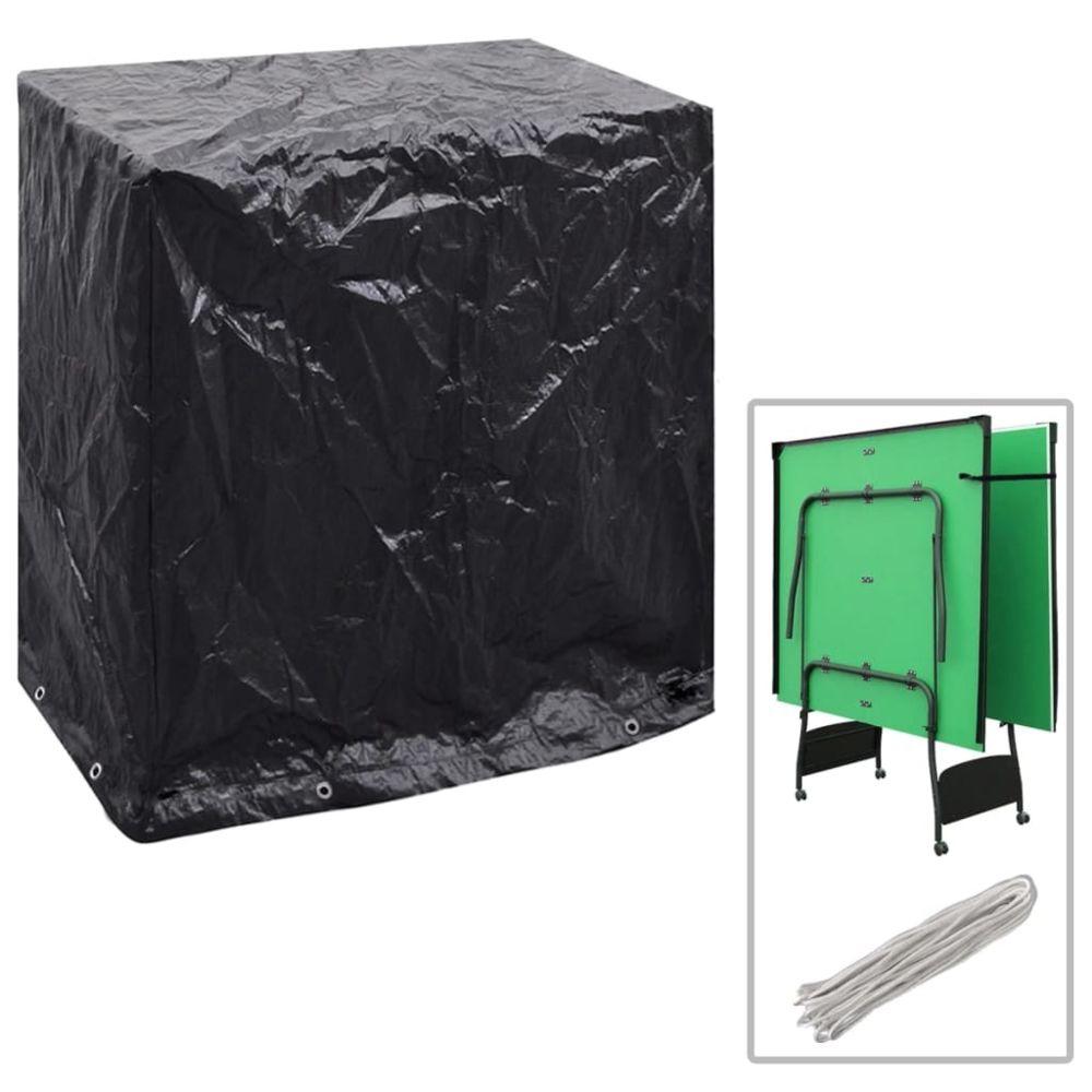 Vidaxl Housse de mobilier de jardin Table de ping-pong 160x55x182 cm   Noir - Housses pour meubles d'extérieur   Noir   Noir