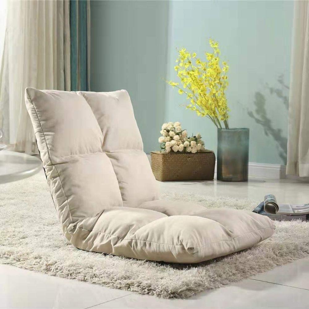 Wewoo - Fauteuil Canapé chaise tatami coussins de sol lit pliant blanc chaud