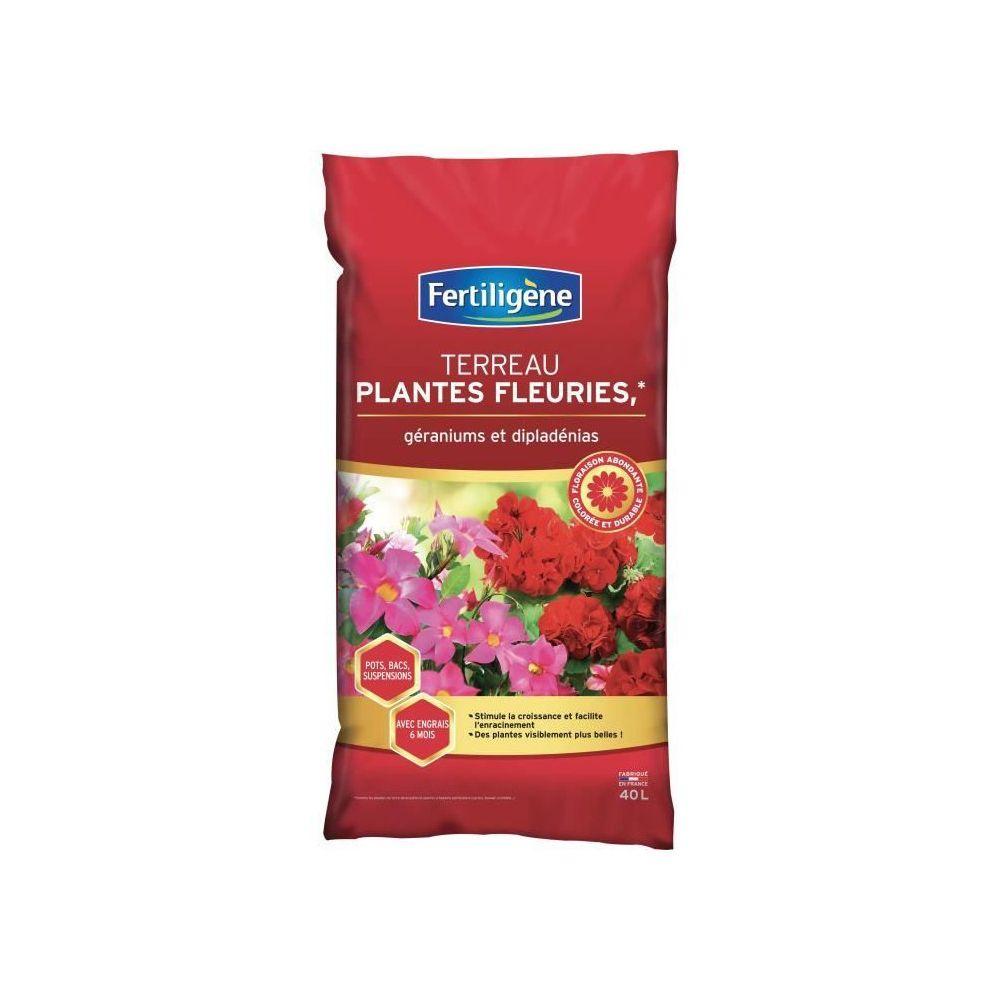 Fertiligene FERTILIGENE Terreau Plantes Fleuries et Geraniums - 40 L