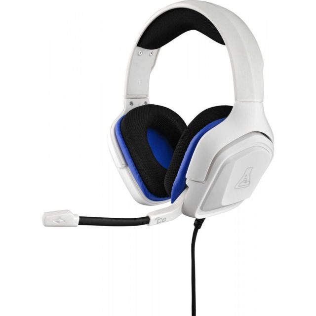 The G-Lab - Casques Informatiques The G-lab Korp-cobalt-w - Micro-Casque Circum auriculaire