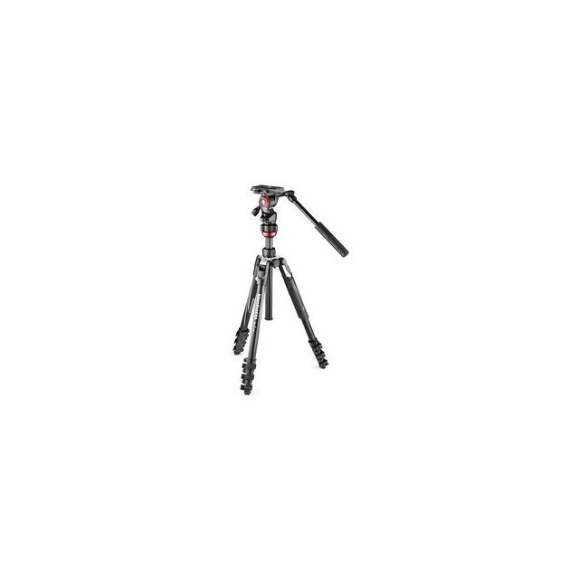 Manfrotto - Treppiede Manfrotto Befree Live in alluminio con testa video e chiusure a leva - Manfrotto