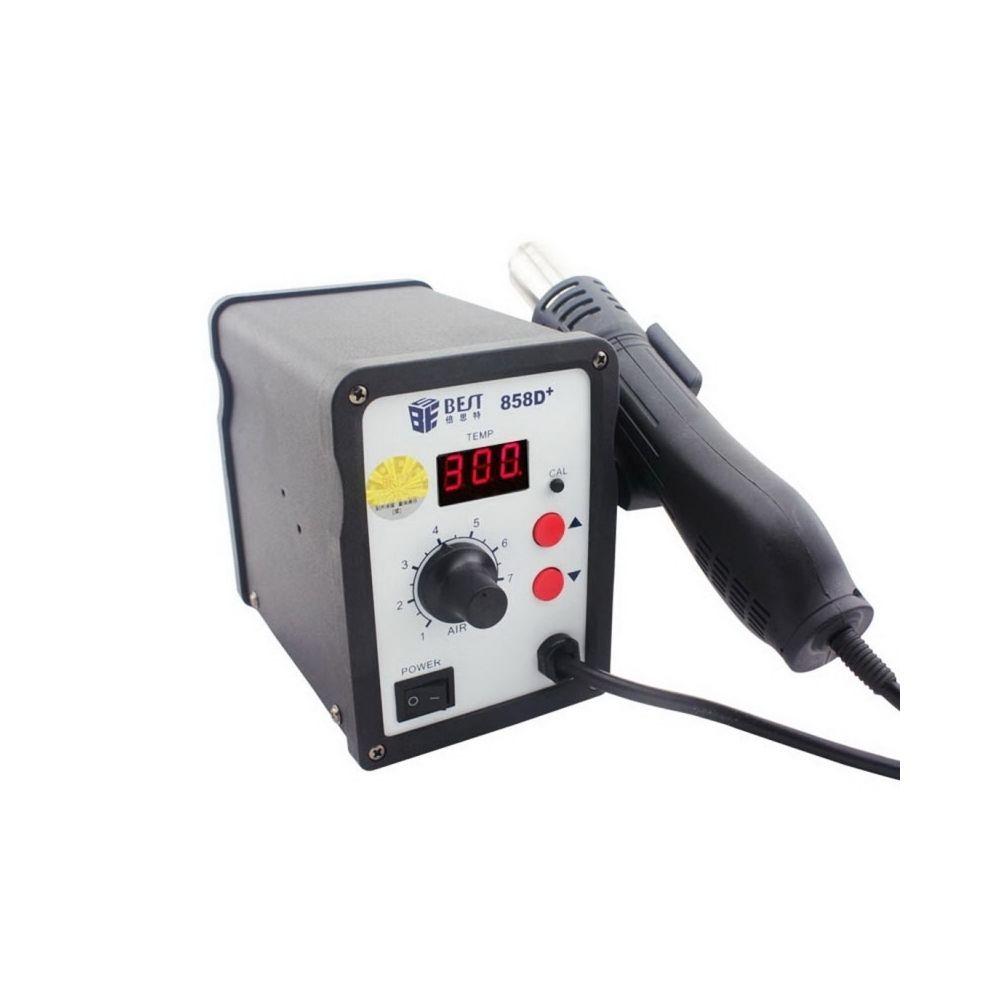 Wewoo Pistolet à chaleur noir AC 220 V 50 Hz 650 W LED Displayer température réglable à air chaud sans plomb avec vent hélicoï
