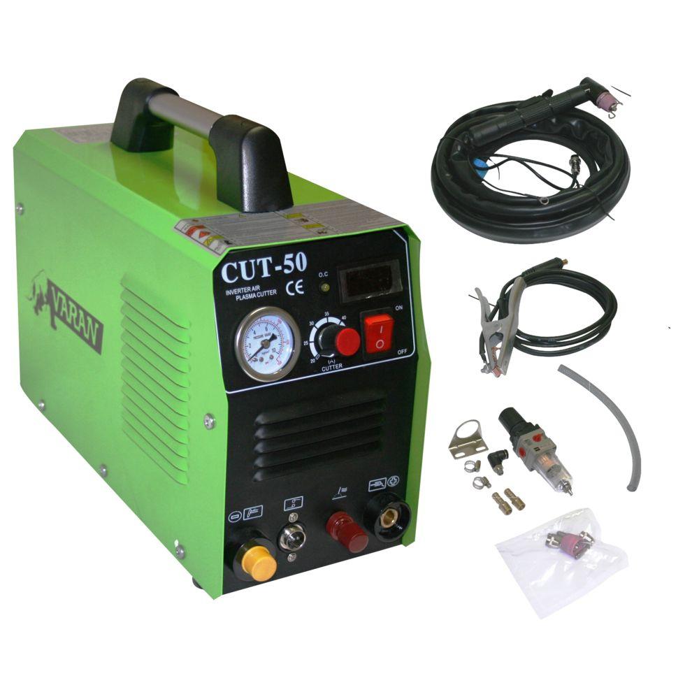 Varanmotors Découpeur Plasma portatif 50A Varan CUT-50 Inverter + manomètre + fonction ARC PILOT