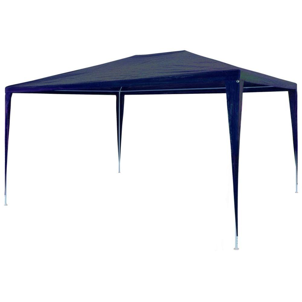 Vidaxl vidaXL Tente de Réception 3x4 m PE Bleu Chapiteau Tente de Jardin Pavillon
