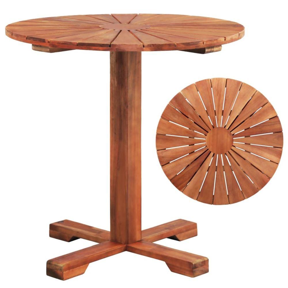 Vidaxl vidaXL Table sur pied Bois d'acacia massif 70 x 70 cm Rond