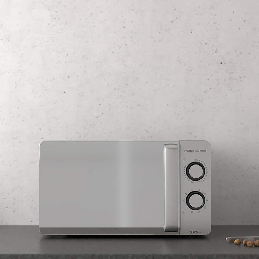 Cecotec Micro-ondes de 20L avec grill et minuterie 700W gris