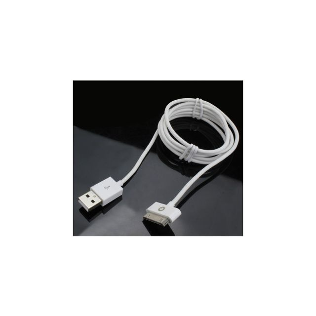 Muvit - Câble droit USB / Apple 30 PIN , charge + sync 1A 1.2 metres blanc Muvit   - Appcessoires Muvit