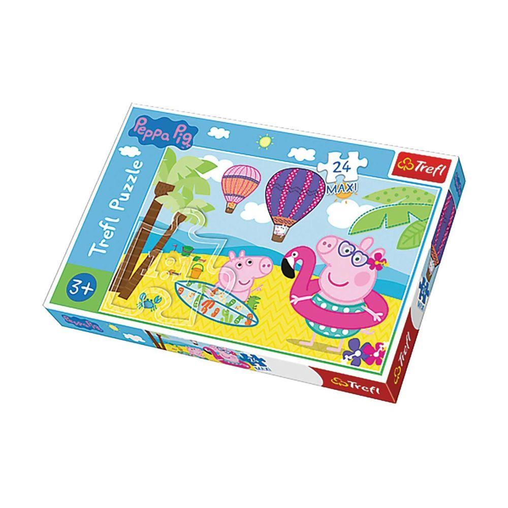 Imagin Puzzle les vacances de Peppa Pig - + 3 ans - 24 pièces Maxi