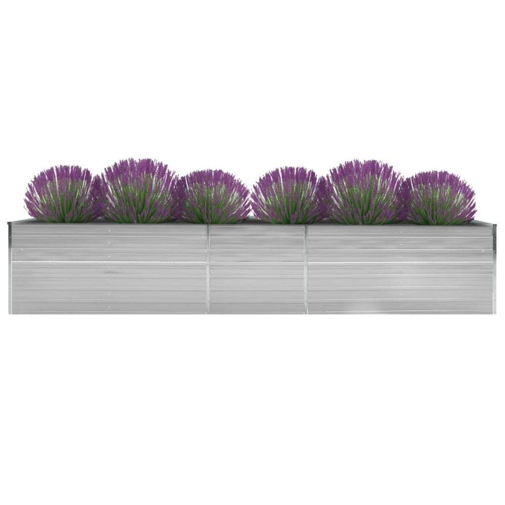 Uco UCO Lit surélevé de jardin Acier galvanisé 400x80x45 cm Gris