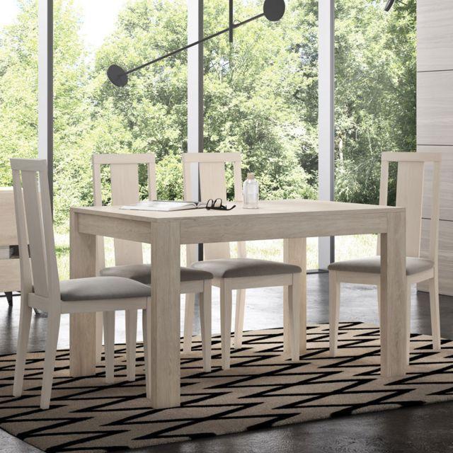8 1 chaise 9 pi/èces table de salle /à manger moderne en pin blanc de 9 pi/èces et set de table Lechnical Ensemble table de salle /à manger et chaise pour famille