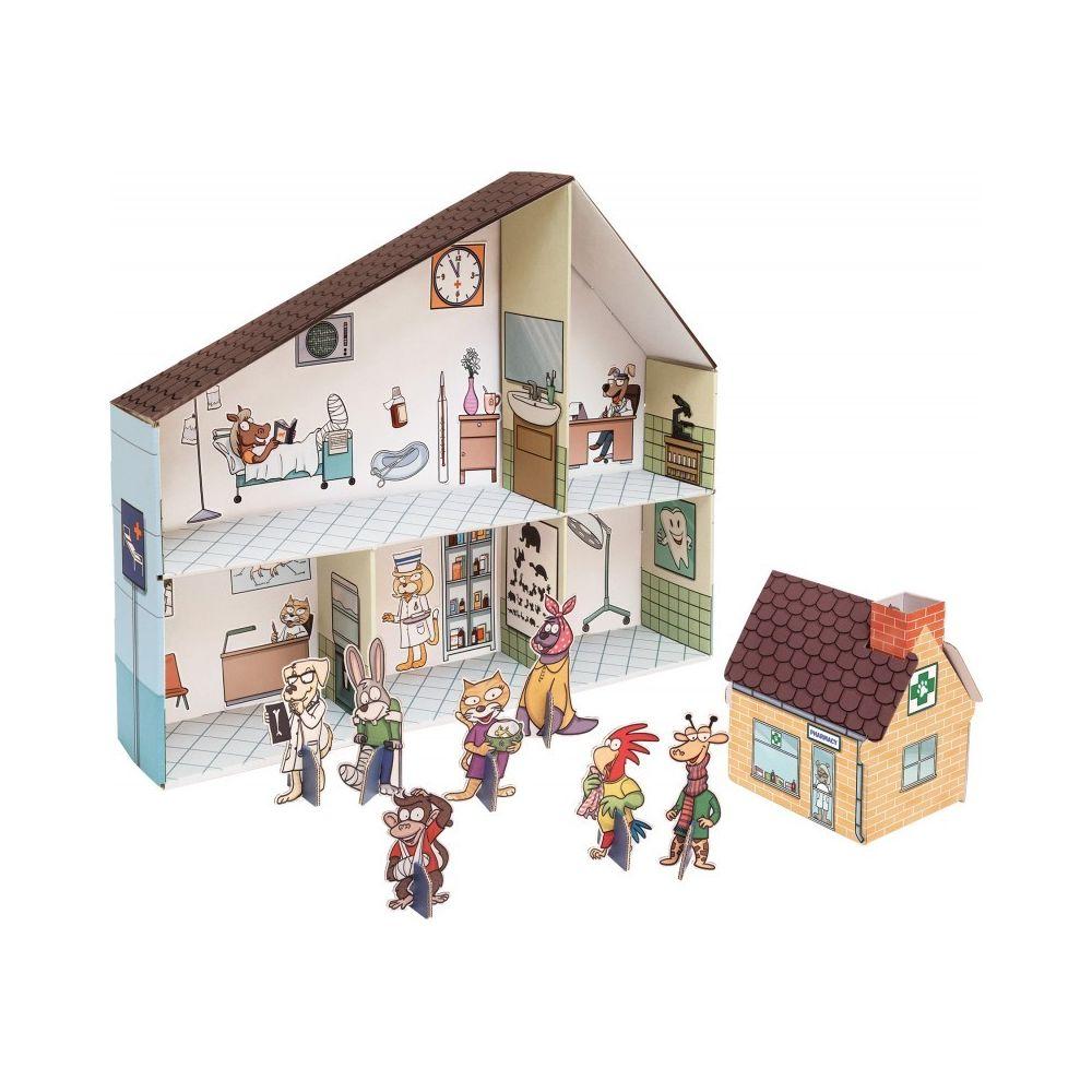 Small Foot Company Maison de poupée en carton Clinique vétérinaire