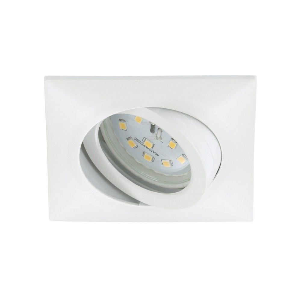 Briloner Leuchten Spot LED Encastrable Orientable BRILONER module 5W Ip23 Nickel mat/Verre Blanc Carré