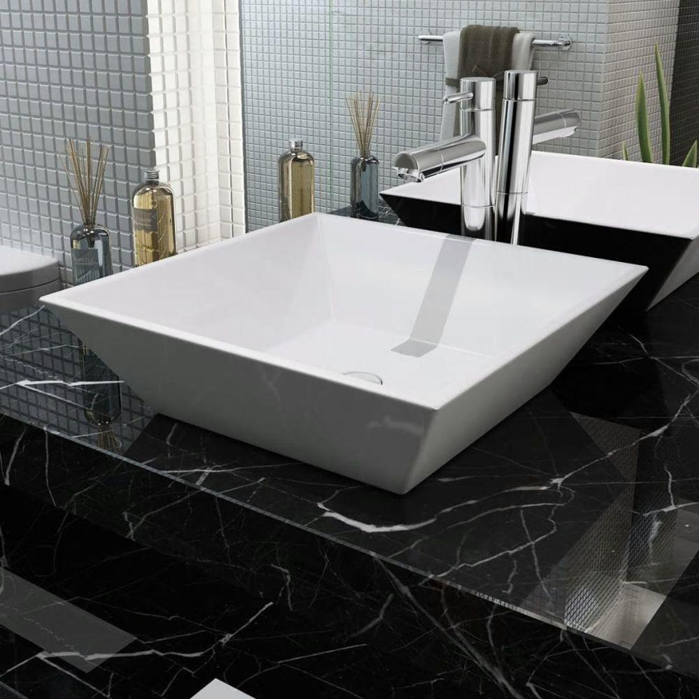 Uco UCO Lavabo carrée Céramique Blanc 41,5 x 41,5 x 12 cm