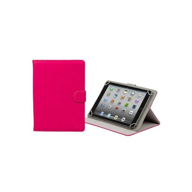 Tablette Android marque generique RIVACASE Etui tablette universel Orly 10,1'' - Cuir - Rose