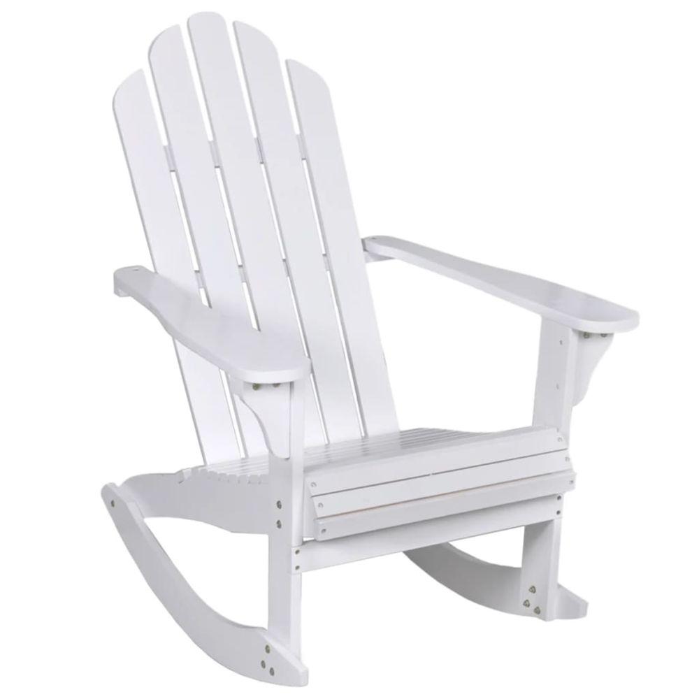 Vidaxl vidaXL Chaise à bascule de jardin Bois Blanc