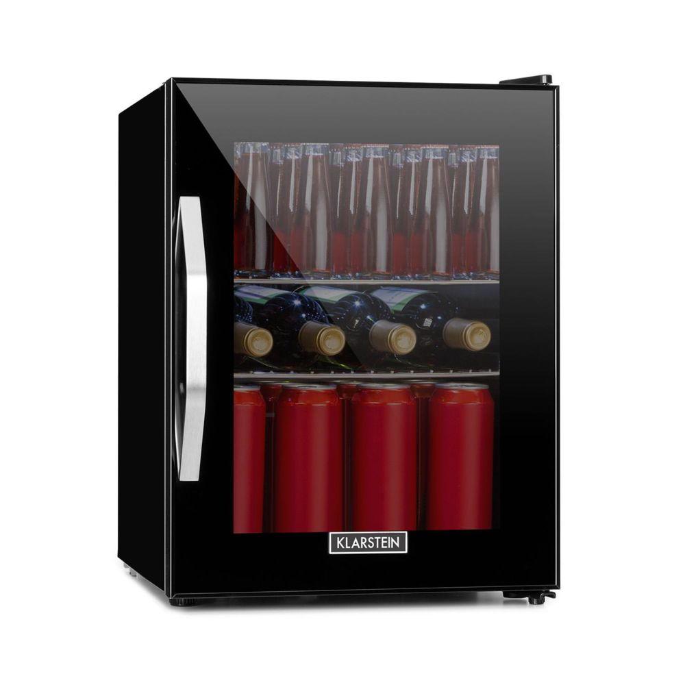Klarstein Klarstein Beersafe M Onyx Réfrigérateur 35 litres , 42 dB , éclairage LED , porte verre , classe énergétique A++