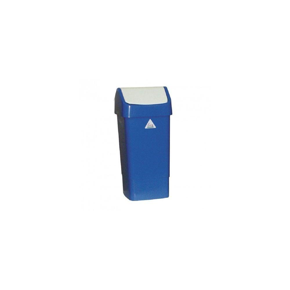 Materiel Chr Pro Poubelle bleue à couvercle battant SYR 50 L -