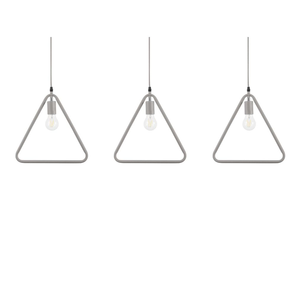 Beliani Beliani Set de 3 lampes suspensions grises JURUENA - gris