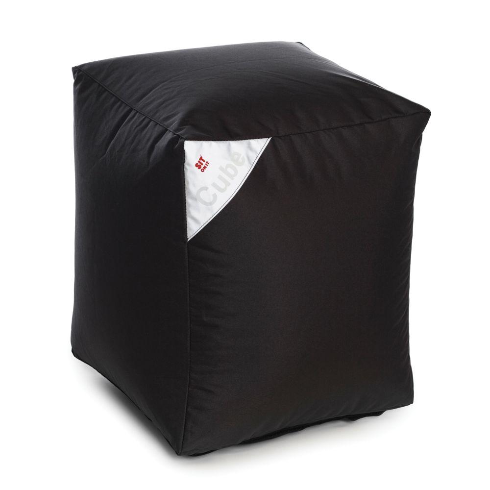 Rendez Vous Deco Pouf Cube noir