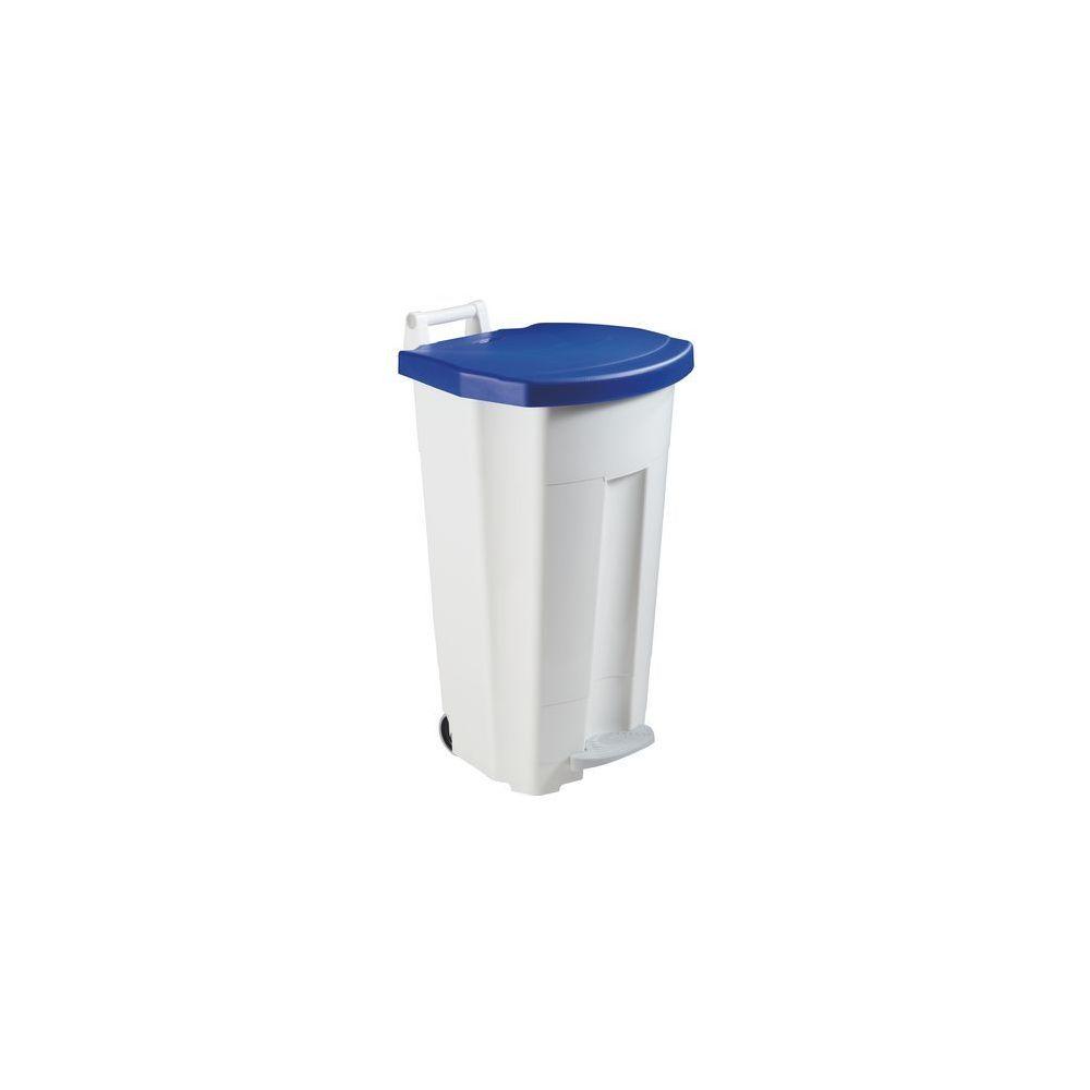 Rossignol Poubelle 90 litres Rossignol tri sélectif rectangle à pédale bleue