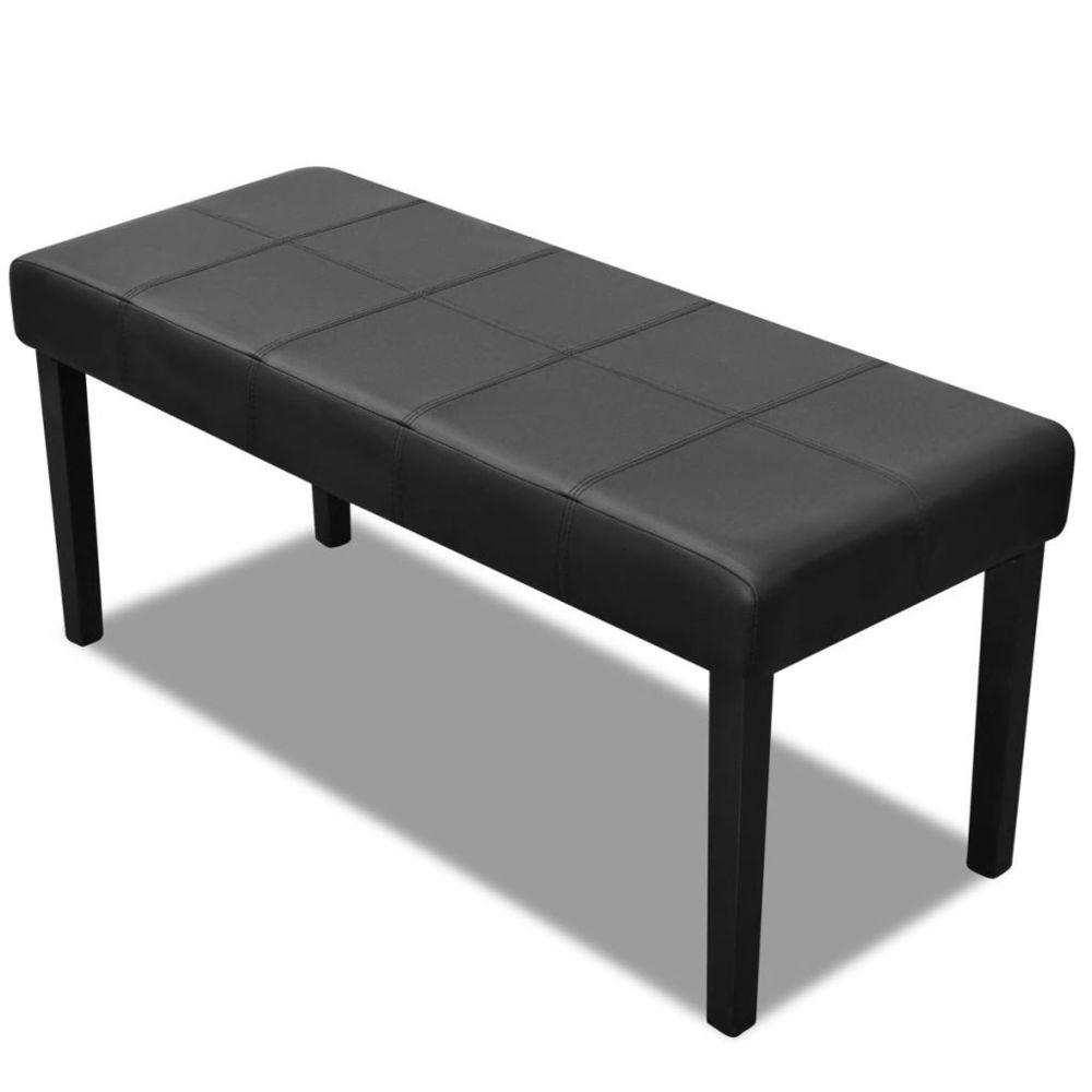 Vidaxl Banc en cuir synthétique de haute qualité Noir | Noir