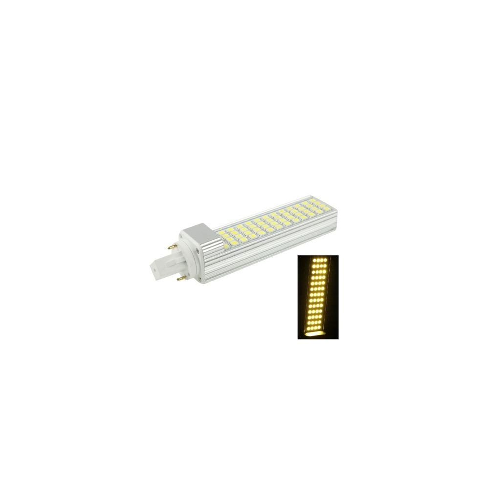 Wewoo Ampoule LED Horizontale blanc G24 12W Chaud 52 5050 SMD Transverse, AC 220V