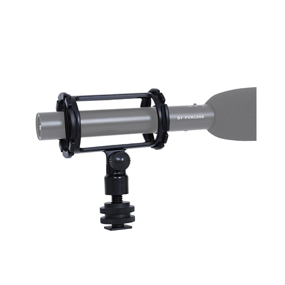 Wewoo Pour PVM1000 PVM1000L Microphone Noir BY-C04 Caméra Shockmount avec Hot Shoe Mount