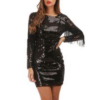 bf62c9b8c3 Robes franges noir - catalogue 2019 - [RueDuCommerce - Carrefour]