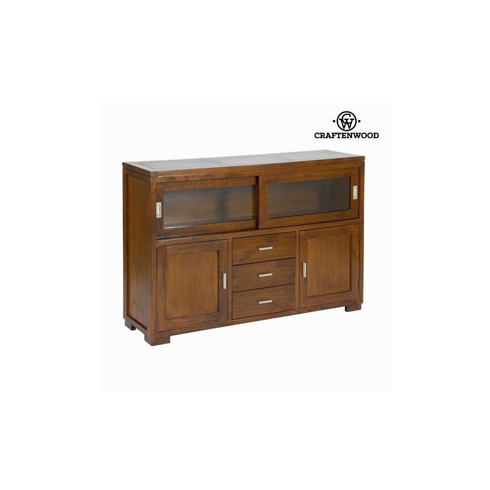 Totalcadeau Buffet forest 3 tiroirs Bois d?acacia - Meuble mobilier decoration maison 130 x 40 x 90 cm