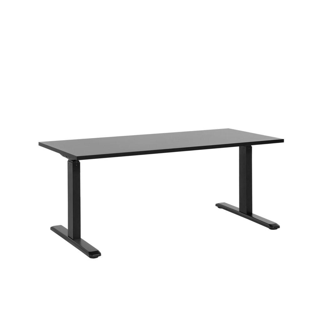 Beliani Beliani Table de bureau 160 x 72 cm noir hauteur réglable par électronique UPLIFT II - noir