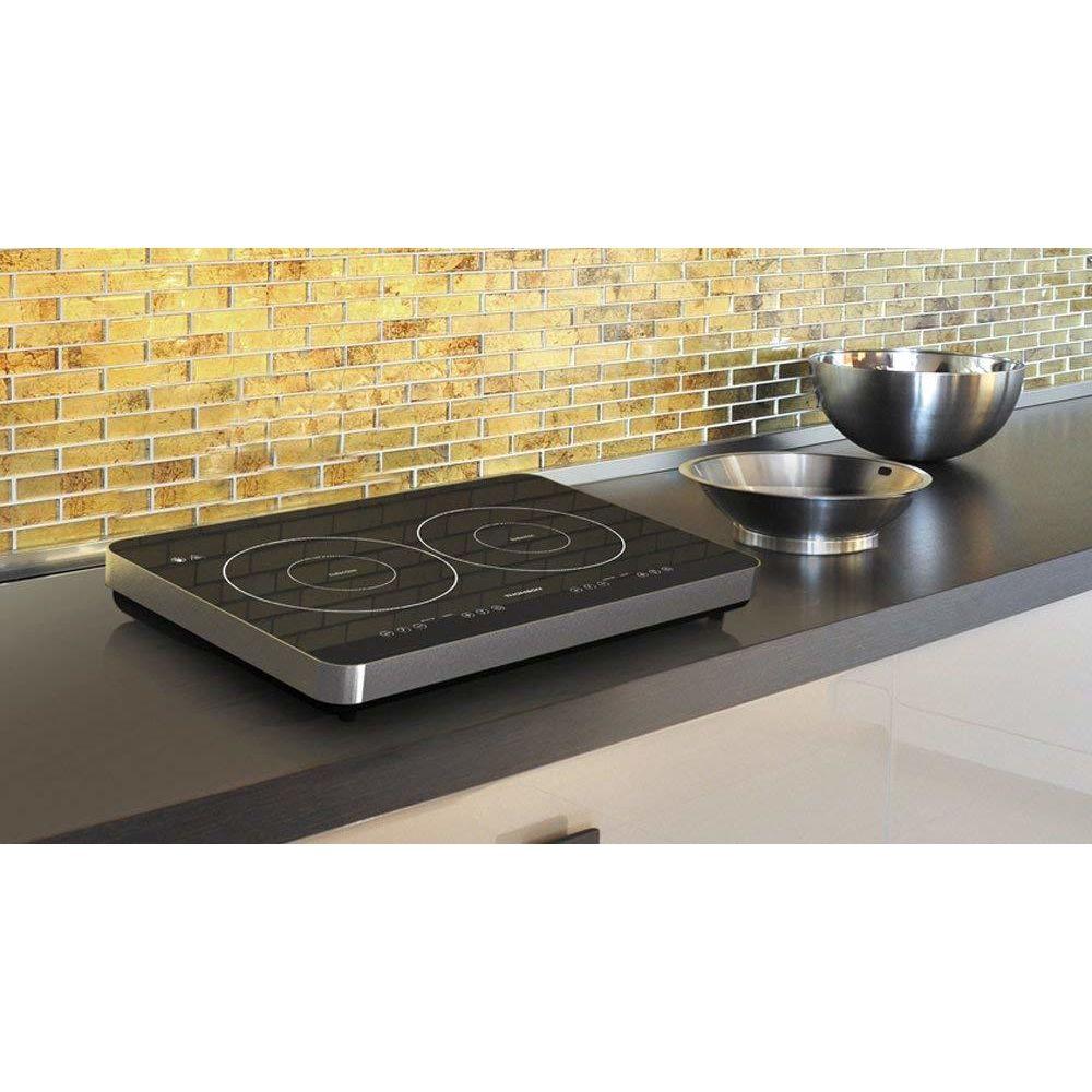 Thomson table plaque à induction posable avec 2 foyers 3400W gris noir