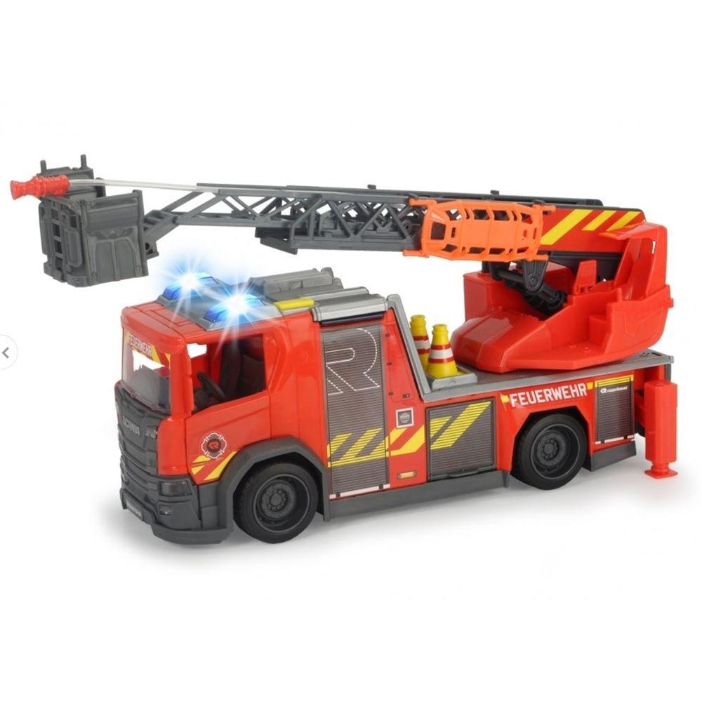 Dickie Dickie 203716017 - Camion de pompiers à échelle tournante