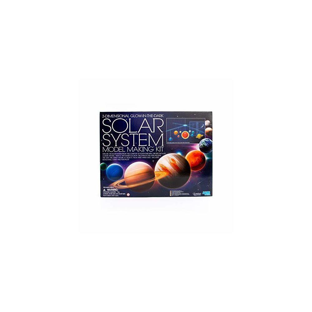 4M 4M 3D Glow-in-the-Dark Solar System Mobile Making Kit - DIY Science Astronomy Learning Stem Toys Educational Gift for Ki