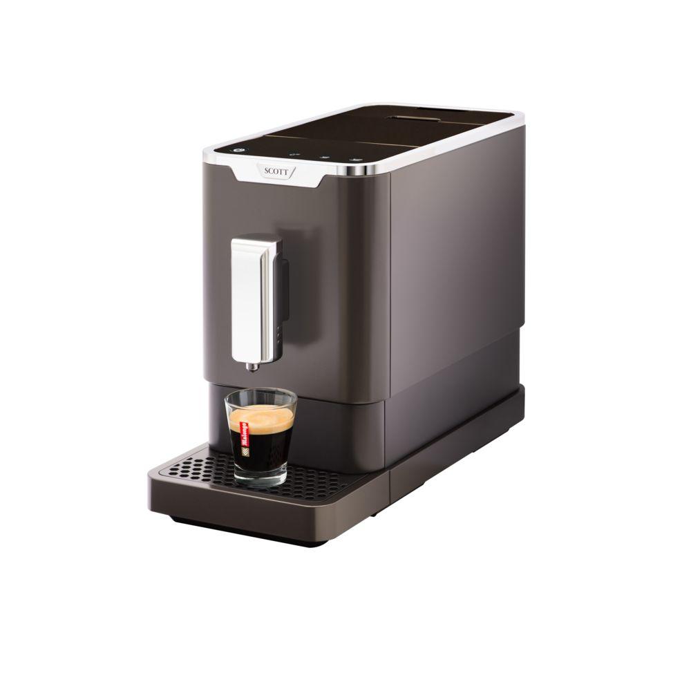 Malongo Machine à café Expresso broyeur Slimissimo Scott - 20 208 - Noir