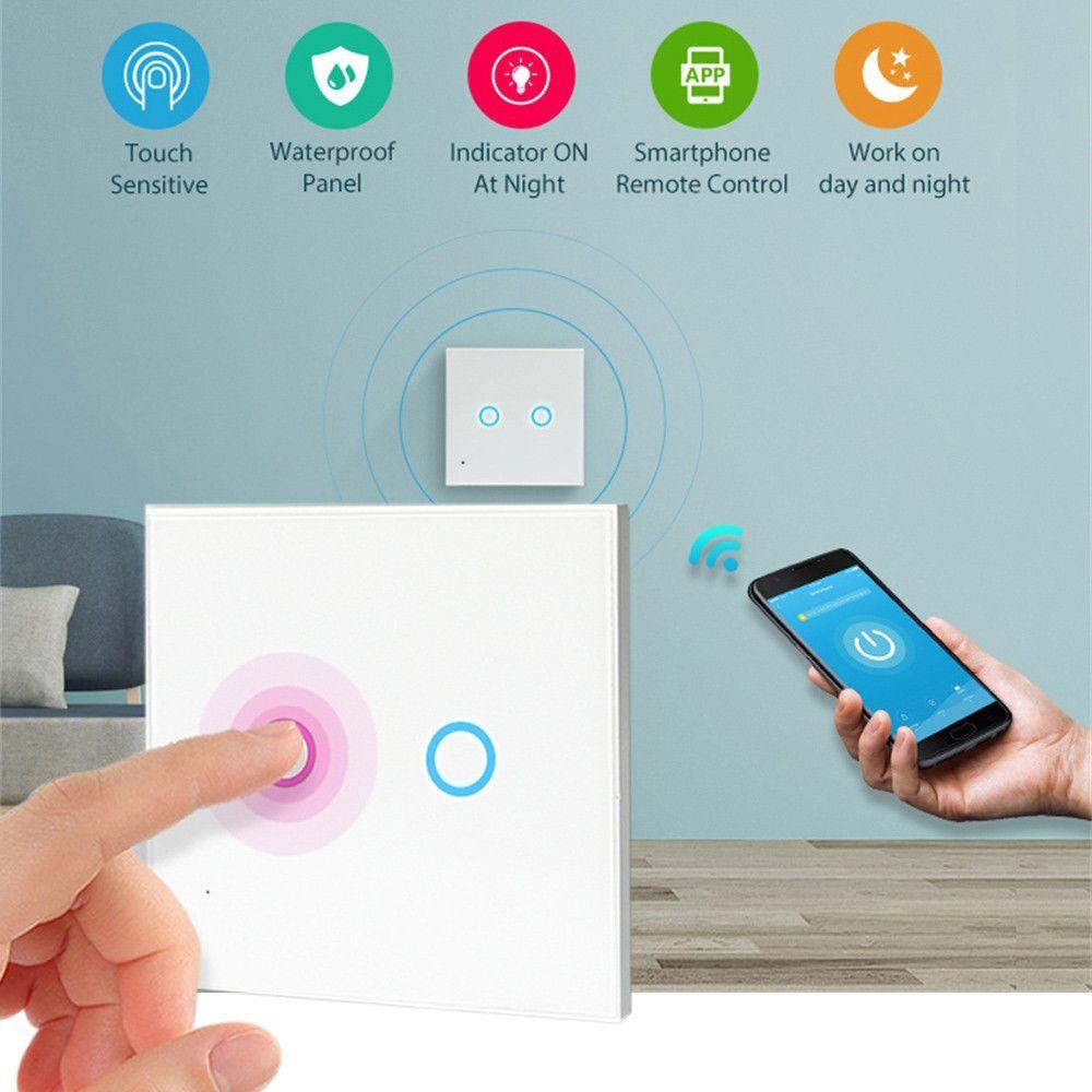 Smart Switch WiFi Commutateur Vocal sans Fil avec minuterie Intelligente sans Fil pour /écho Alexa Google Home
