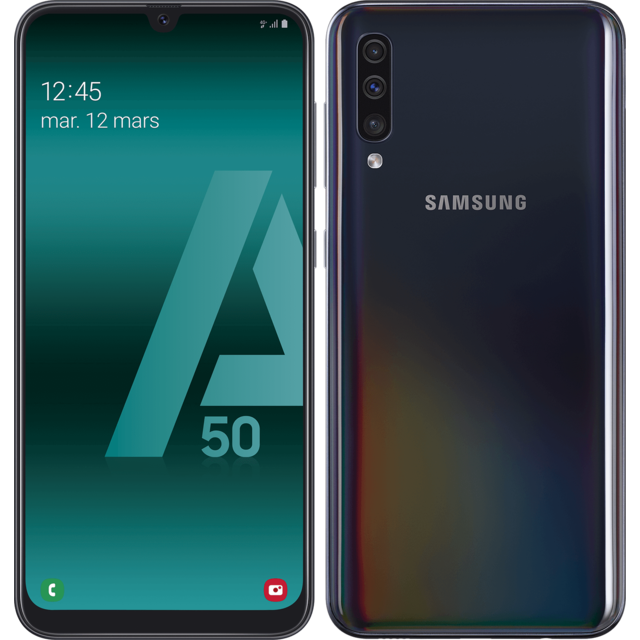 Smartphone Android Samsung Galaxy A50 - 128 Go - Noir