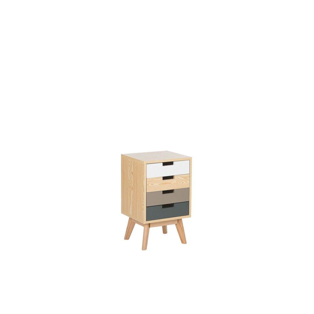 Beliani Beliani Commode multicolore et bois clair avec 4 tiroirs CLARK -