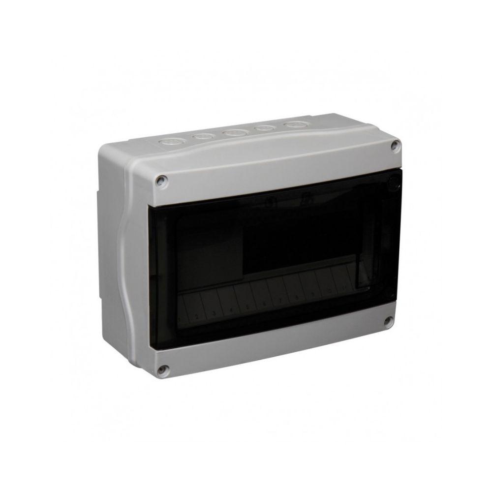 Debflex Debflex 067227 Coffret étanche IP65 1 rangée 12 modules Gris