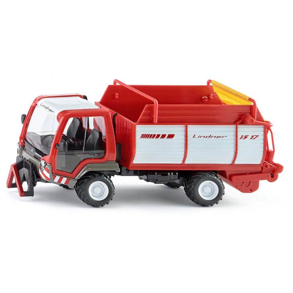SIKU Modèle réduit en métal : Camion Lindner Unitrac avec wagon de chargement