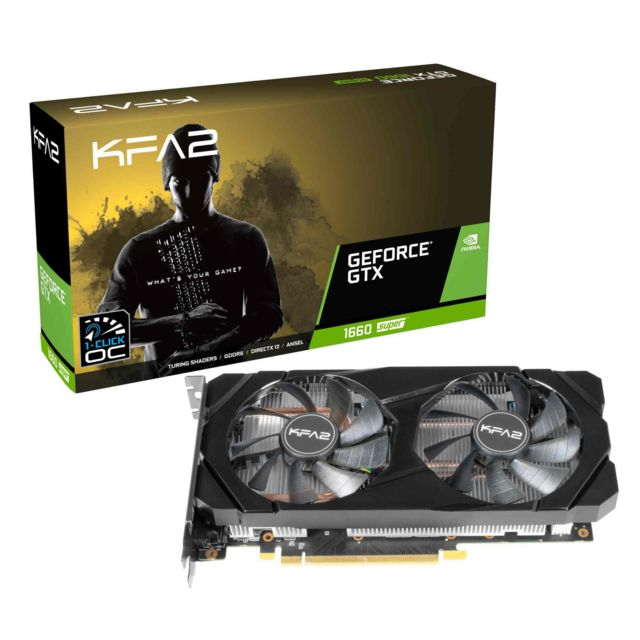 Kfa2 - Geforce GTX 1660 Super - 1-CLIC OC - 6 Go - Carte Graphique NVIDIA