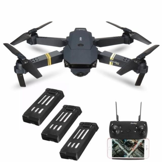 Drone connecté Eachine E58 WIFI FPV RC Drone +3 Batterie  2MP Caméra