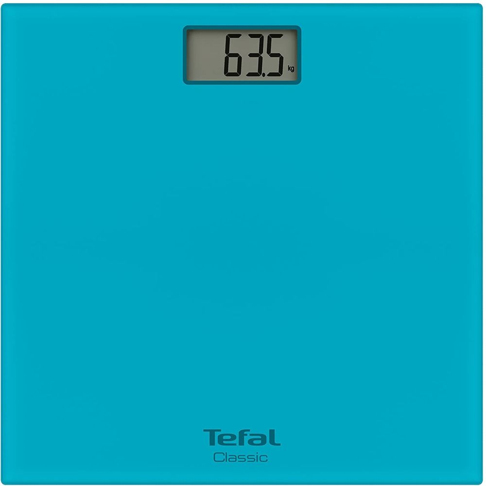Tefal Pèse Personne Électronique Classic Ultra-fin avec écran LCD 160kg bleu