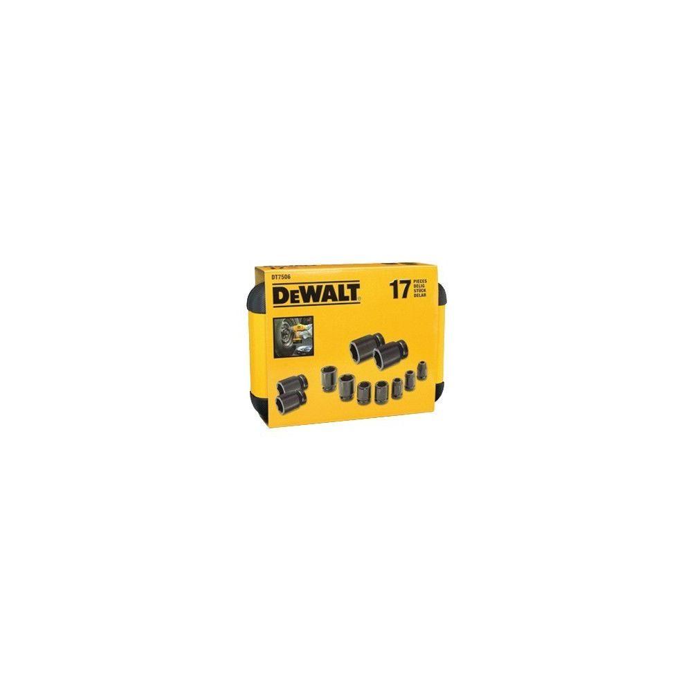 Dewalt Coffret de douilles DEWALT 17 pièces + adaptateur - DT7506