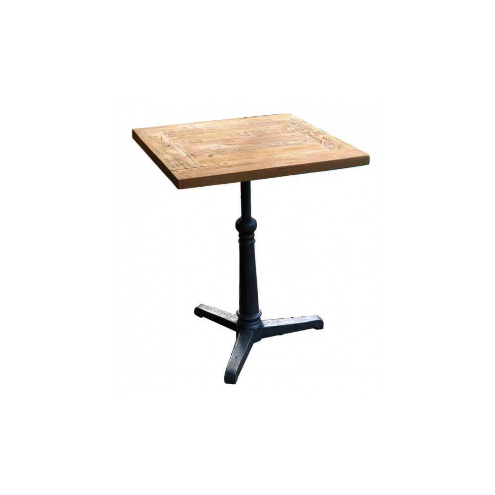 Mathi Design BISTROT - Table repas bois massif 60 cm