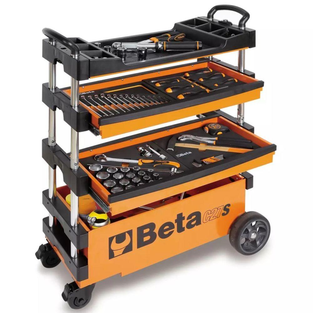 Beta Tools Beta Tools chariot à outil repliable C27S-O en acier orange