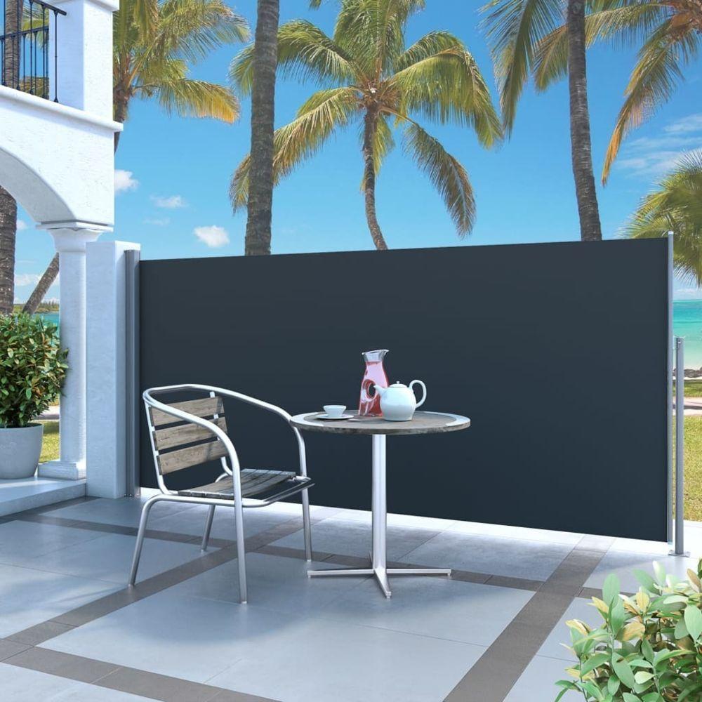 Vidaxl Auvent latéral rétractable 140 x 300 cm Noir - Pelouses et jardins - Vie en extérieur - Parasols et voiles d'ombrage | N
