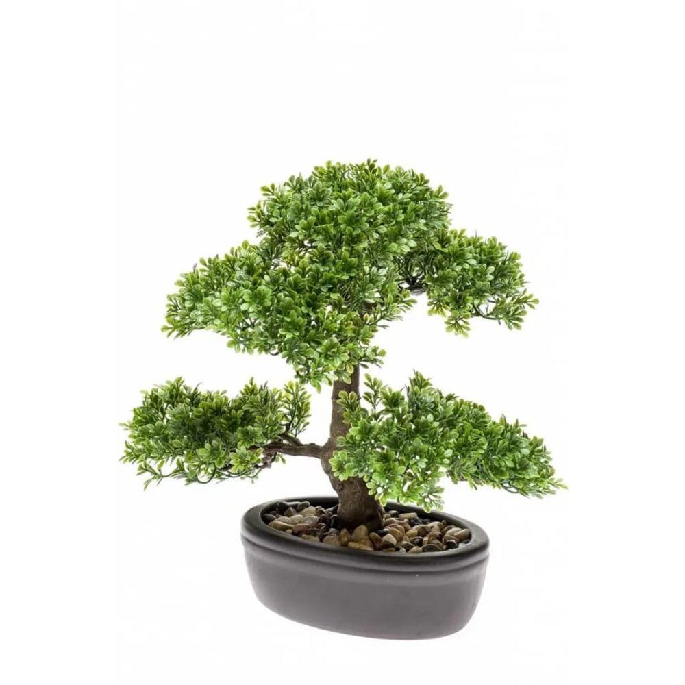 Emerald Emerald Mini bonsaï Ficus artificiel Vert 32 cm 420002