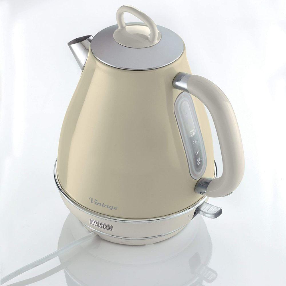 Ariete bouilloire électrique de 1,7L sans fil vintage 2000W beige