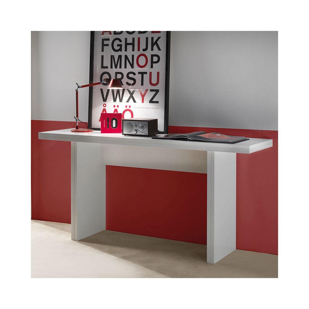 Nouvomeuble Table console extensible blanche design ZITA